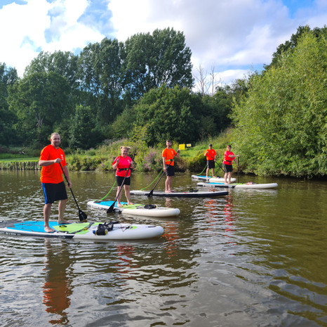 """""""Had such a great afternoon - 2 hour SUP lesson with Helen - I was nervous of the open water despite being a good pool swimmer but Helen was exactly the person I needed to help me overcome the fear and before I knew it I was paddling standing up! Loved it and will be back!"""" - Karen B"""
