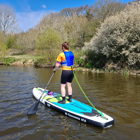 """""""Had my first SUP lesson today with Helen. What great fun, I've learnt loads of hints and tips and can't wait to get back out on the water. Highly recommend!"""" - Claire J"""