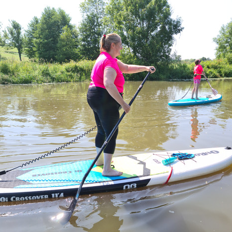 """""""Our first experience with Helen at SUP With Us was brilliant! The whole experience from start to finish was so much fun and well organised, Helen is a wonderful paddle boarding teacher and we're really looking forward to our next visit, thoroughly recommend a visit here."""" - Amanda R"""