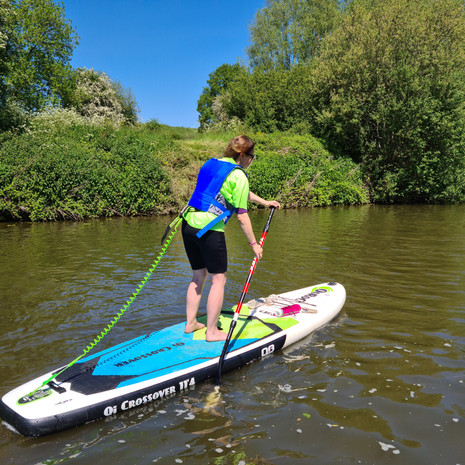 """""""Had a great time SUPing with Helen! Very informative and fun 2 hours lesson on the water. Highly recommended. Thank you!"""" - Agnieszka J"""