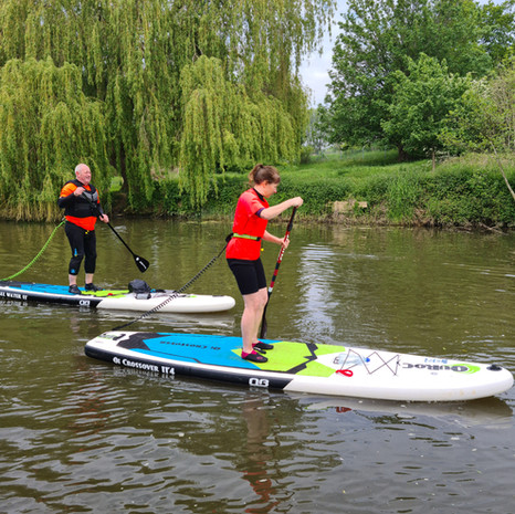 """""""First time on a paddleboard yesterday and Helen was the perfect instructor. Patient, encouraging and full of information and technical tips. Would definitely recommend to anyone considering giving it a go in this beautiful location."""" - Sarah McG"""