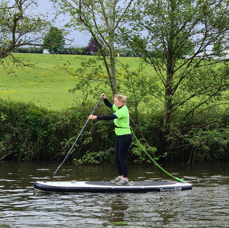 """""""I really enjoyed a two hour group SUP lesson in Teston with Helen. Had never done it before, but with a few tricks was soon on my way. Can't wait to give it another go. The intro session was well organised and all I needed to do was turn up. Go for it!"""" - Michelle W"""