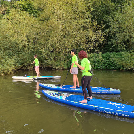 """""""I went for a lesson with Helen at Teston with my son and daughter. 2 hours, very supportive and informative teacher. I was not so good, but I have caught the bug after one lesson and will certainly join her gang again. I can't wait to SUP again!!"""" - Sam S"""