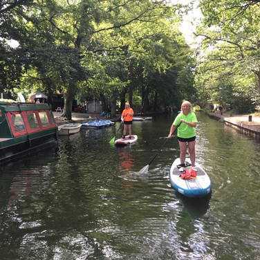 """My sister and I had a 2 hour lesson with Angela on Basingstoke canal. We thoroughly enjoyed it and found Angela very knowledgeable and an excellent instructor. She was encouraging and motivating which meant that we felt confident within the first hour and could start to learn different techniques. I would highly recommend SUP with us."" - Louize L"