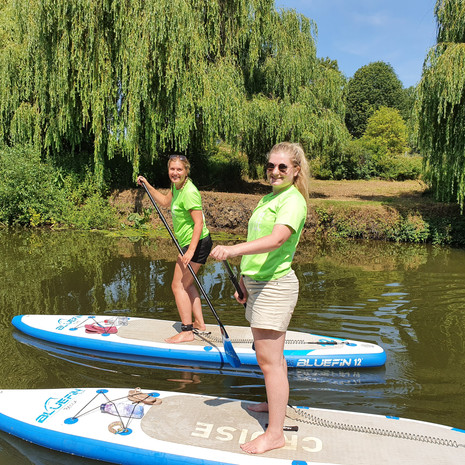 """""""My sister and I took a two hour group SUP intro with Helen and it was great. She explained everything before we got onto the boards and we learnt a lot more as we went. Felt safe and confident in no time. The route was beautiful and scenic which we got to enjoy and Helen even took some pictures for us and sent them over afterwards."""" - Shelley P"""