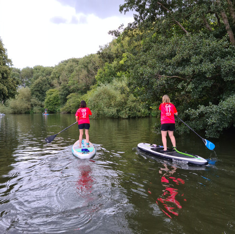 """""""What a fantastic time me and my 3 friends had on Saturday SUPing with Helen down in Kent. It was my first time and loved every minute of it (even falling in at the end!). Helen was a fantastic teacher. She explained and showed us the technique required really well, which made it much easier, and made sure we had fun too. Thoroughly enjoyable - I would recommend it (and Helen) to anyone who enjoys the outdoors and wants to find another way to relax and keep fit (its great for core strength and upper body). Great value for money too."""" - Rachel W"""