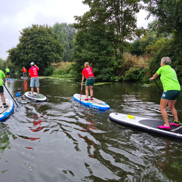 """We had a lovely 2 hour session with Helen on Saturday. We were all complete beginners so were learning from scratch - miraculously (or perhaps due to Helen's expert tuition), none of us fell in! The stretch of river from Teston is very pretty and a nice environment to get to grips with SUPing. Highly recommend."" - Louise A"