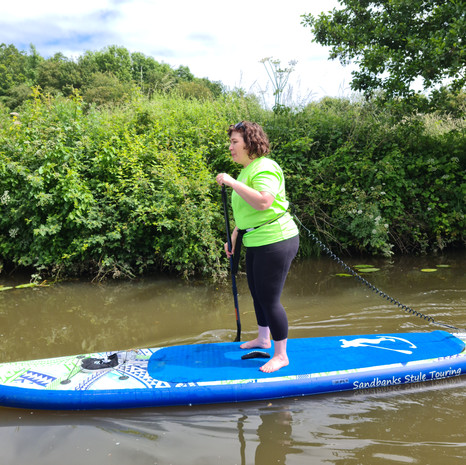 """""""Fantastic lesson with Helen, was such good fun and definitely recommend Helen as a teacher and paddle boarding."""" - Holly W"""