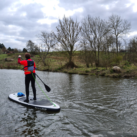 """""""Thank goodness I decided to have a SUP lesson before venturing out on my own. Helen was excellent. Very thorough and helpful and taught us lots of techniques and guided us all throughout the lesson. Helen gave good concise instructions and supported us all with advice and encouragement. Definitely recommend if you are thinking of getting out on a board."""" - Theresa L"""
