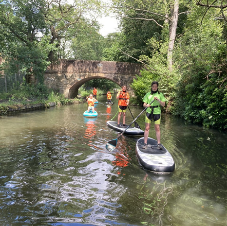 """""""Our 5 girls had a wonderful time yesterday on the beautiful canal.  Some had paddleboarded before, some hadn't.  Even though it was a mixed experienced group, Angela made it fun and so enjoyable for all of them.  They loved it!!  Thank you so much, we will certainly see you again soon!… x"""" Andrea B"""
