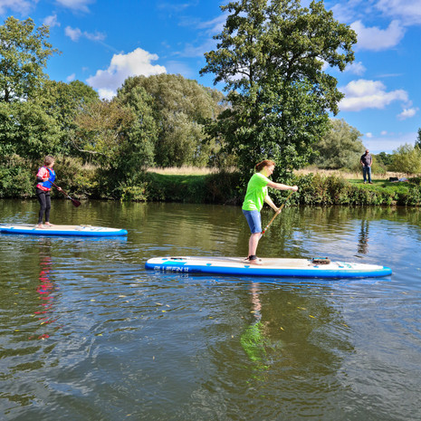 """""""Had a great lesson with Helen today. Was new to paddle boarding and Helen was a great teacher. Lovely relaxed atmosphere and would definitely recommend. Am a new fan of SUP!"""" - Anne-Marie P"""