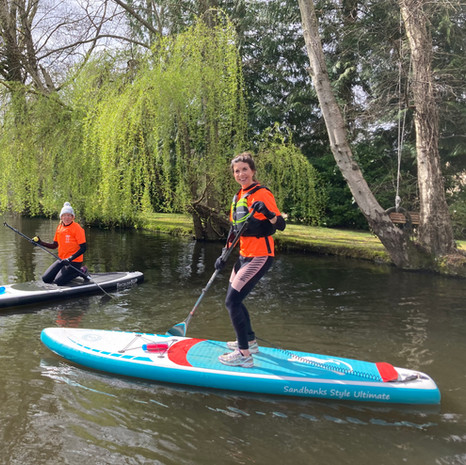 """""""I had a fab first lesson with Angela in Surrey who was lovely and explained everything really well, I had never tried it before. I'll definitely join the social paddles and hope to get my own board soon!"""" - Mel B"""