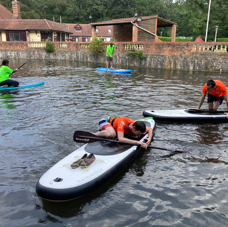 """""""I had a fantastic time at a SUPfun class at Mytchett, highly recommend! Angela is very welcoming, organised and a great instructor. I am really looking forward to joining future classes again soon!"""" - Georgia S"""