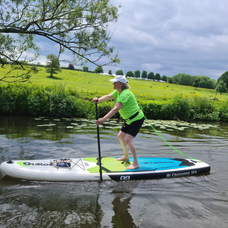 """""""Had my first SUP experience with Helen today at Teston! Fantastic fun lesson and such a good coach! Thank you, can't wait for round 2! Definitely recommend SUP with us for a great experience."""" - Jo M"""