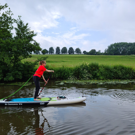 """""""Very good lesson - I had SUP'd a few times before but Helen's technique tips were really helpful to help me improve."""" - Cassandra B"""