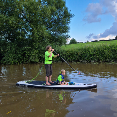 """""""After a lesson with Helen at Teston, I loved it so much I immediately booked myself and my family in for a lesson. Helen is patient and encouraging and gets straight to the task in hand - getting up on the board! When taking my kids out, my youngest (5) initially sat on the front of Helen's board and she was excellent with him. My eldest (8) had his own board and Helen was great with him too. We all had an amazing experience, and I'd highly recommend Helen!"""" - Jade A"""