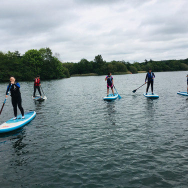 """I had an amazing morning with Gill and a group of lovely ladies under Angela's instruction. I was terrified to start with but now have the bug to paddleboard and can't wait to try it again. Angela you were very calm and your instructions brilliant - my arms now ache but I'm sure I'll manage a well earned glass of wine later!! Thank you!"""" - Justine M"""