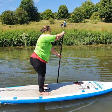 """""""I am really glad that I chose to have my SUP lesson with Helen. She is very friendly, helpful and knowledgeable. She encouraged us throughout the lesson and pointed out where we were going wrong. We also discussed good places where we can paddle, difference between types of boards and other related topics. She also took great pictures that she shared with us afterwards. Definitely recommend, if you want to have a great time and learn to SUP."""" - Kristine A"""