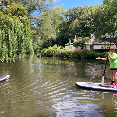 """""""I had my lesson with Angela on Basingstoke Canal and it was pure joy! She is great instructor, very calm and observant! My first ever SUP experience was a real Zen!! Thanks Angela!!"""" - Dani A"""