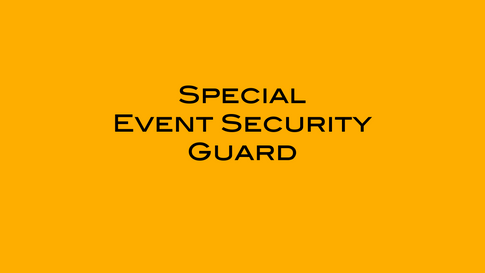 Special Event Security Guard