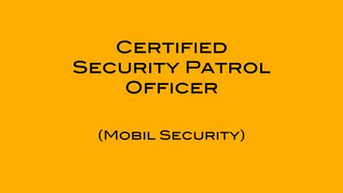 Certified Security Patrol Officer