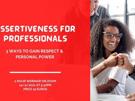 Assertiveness For Professionals Seminar