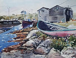 """Visiting Maine"" a watercolor by Diane Bell"