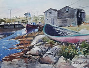"""""""Visiting Maine"""" a watercolor by Diane Bell"""