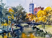 Charles River Espanade II in Boston by Diane Bell