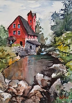 """The Mill"" a watercolor painted by Diane Bell"