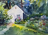 """Backyard Shed"" Norfolk waterccolor by Diane Bell"