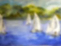 Sailing; 10x20 framed $200