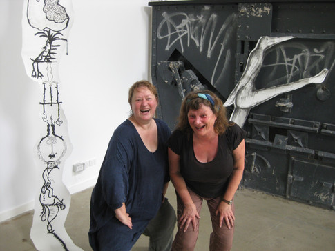 Carole Driver - Sculpture and Installation: Art Jam with Helen Sturgess at the Incinerator