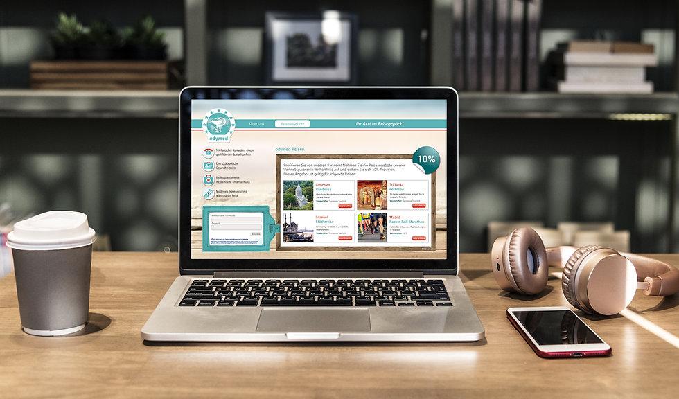Screendesign, Webdesign, responsive Design, Laptop