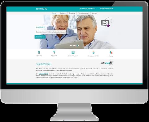 design, webdesign, screendesign, responsive, design, application, website safemediq, safemediq ag