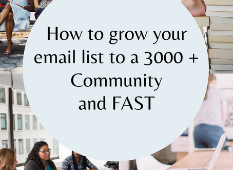 How to grow your email list to a 3000 + Community and Fast