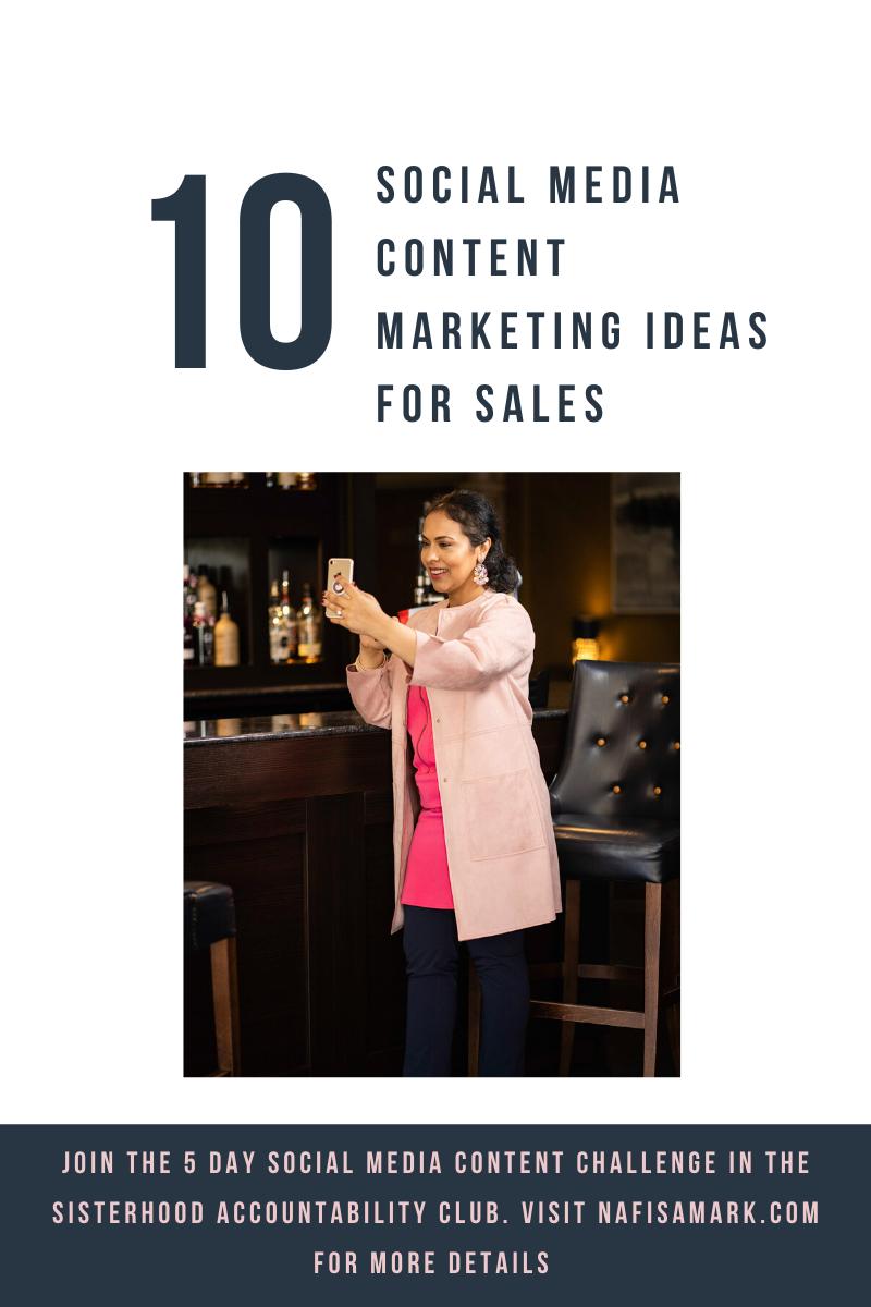 10 social media content ideas for sales