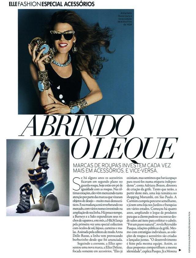 Entrevista revista ELLE | Outubro 2012