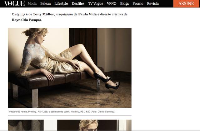 Revista Vogue | Trabalho como diretor criativo de Fotografia