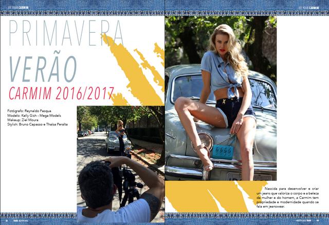 Especial making of fotos das fotos da campanha Carmim Verão 2016/2016 e Fashion Filme na revista YOU