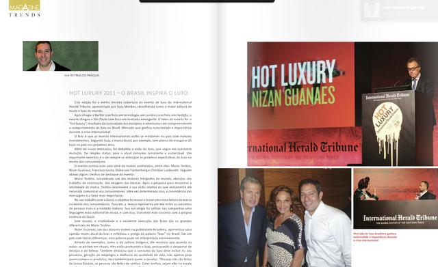A-Magazine - International Herald Tribune - HOT LUXURY 2011 - São Paulo Brazil