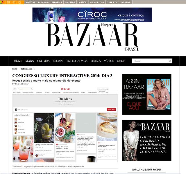 Cobertura para Harpers Bazaar do Luxury Interactive NYC - Dia 03
