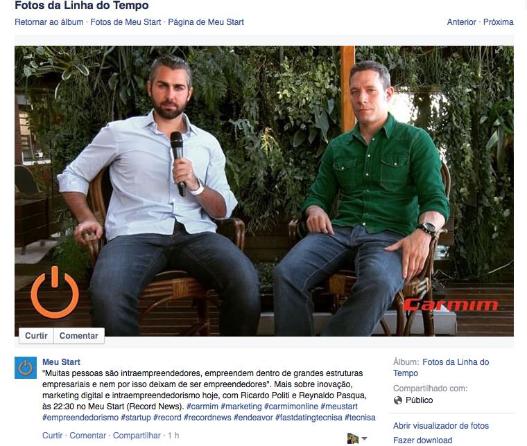 Entrevista sobre Marketing digital, inovação e Intraempreendedorismo