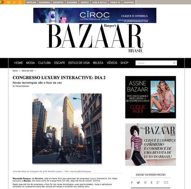 Cobertura para Harpers Bazaar do Luxury Interactive NYC - Dia 02