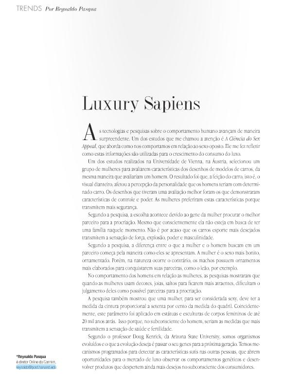 Luxury Sapiens - A Magazine Fevereiro 2011