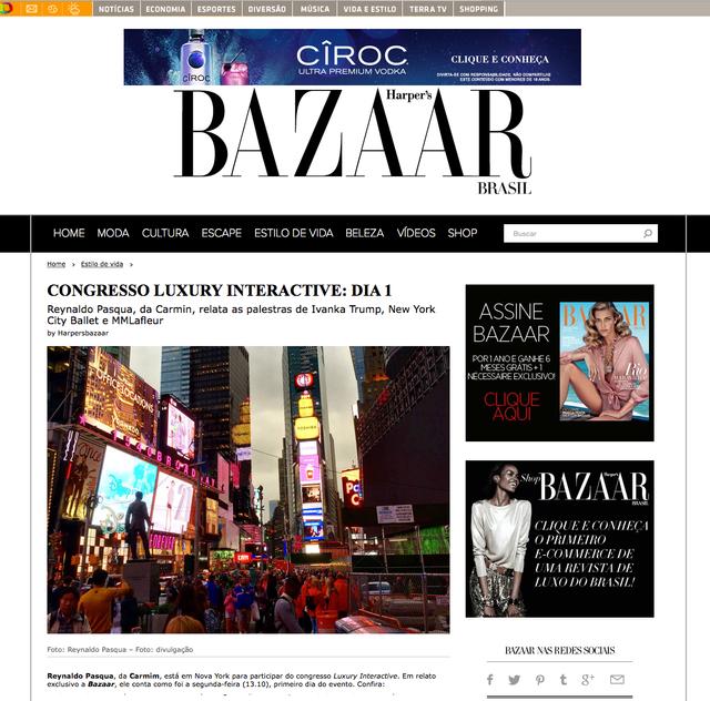 Cobertura para Harpers Bazaar do Luxury Interactive NYC - Dia 01