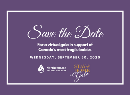Save the Date for our Virtual Stay at Home Gala