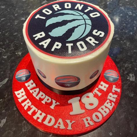 Red Velvet 6inch Tall Cake - Toronto Raptors