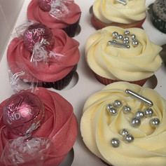 Pink lindt and silver cupcake .jpg