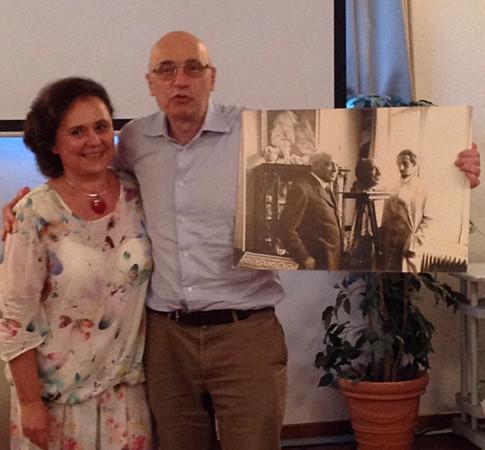 Judit Meszàros e Carlo Bonomi